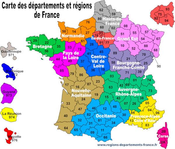 carte de france département