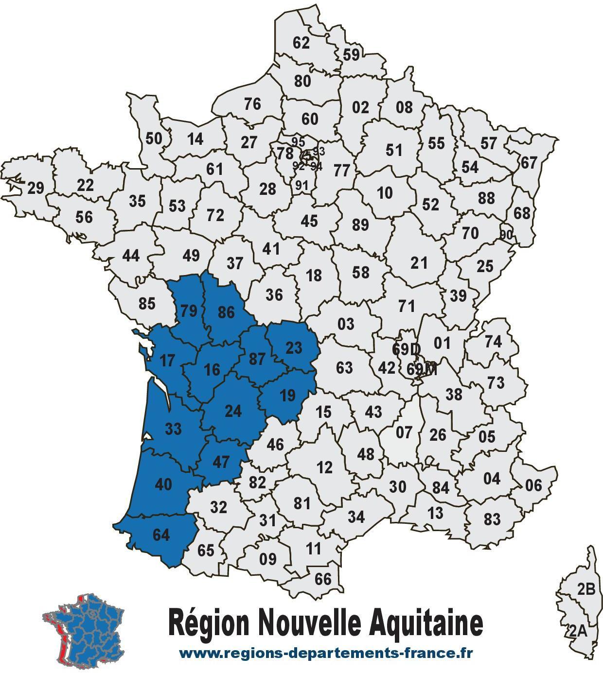 Region Nouvelle Aquitaine Localisation Et Departements